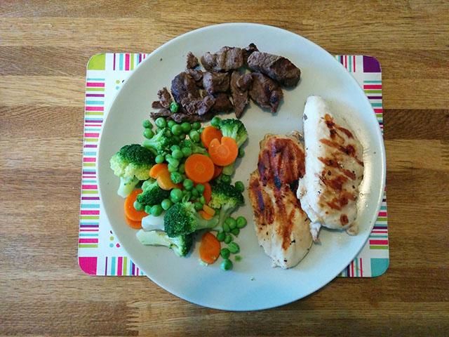 chicken-beef-steamed-veg