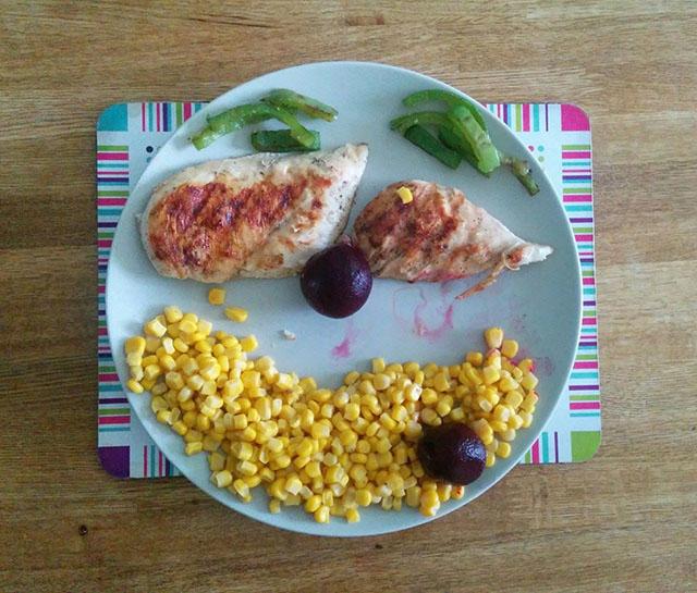 chicken-sweetcorn-beetroot-peppers